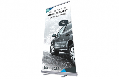 Rollup i aluminium, inkl. digitaltryckt poster