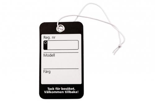 Nyckelmärkning standard svart