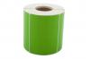 Däcketikett grön utan tryck