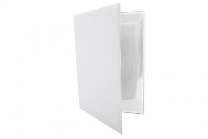 Fordonsmapp i vit plast, A5 utan tryck