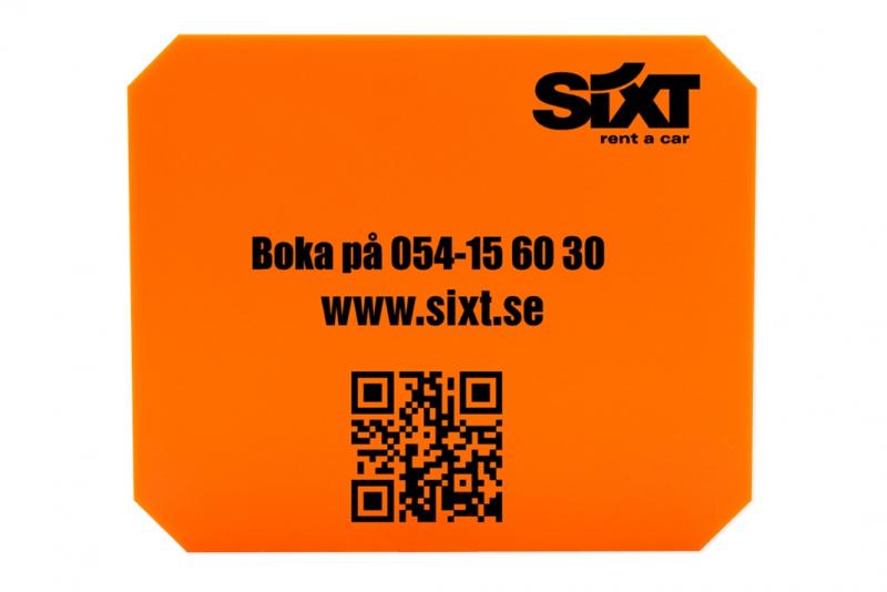 Isskrapa orange, 1-tryckfärg, 1-sida