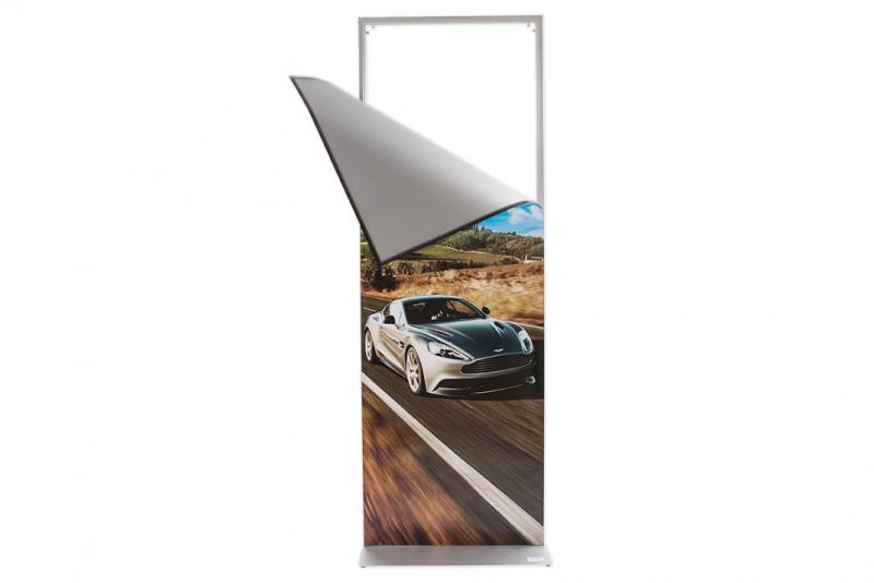 Poster display med magnetram