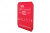 Isskrapa transparent röd, 1-tryckfärg, 1-sida