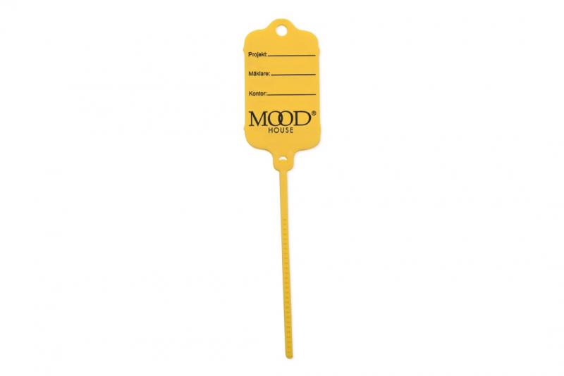 Keytag gul, eget tryck 1-sida