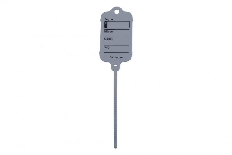 Keytag standard grå