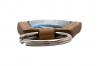 Nyckelring brunt läder, päronformad med Domemärke