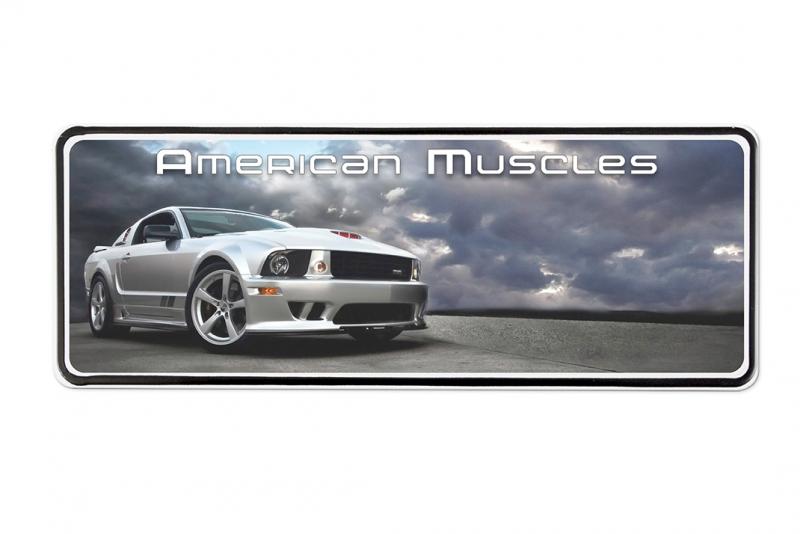 INFOSKYLT USA, Aluminium, Tryck
