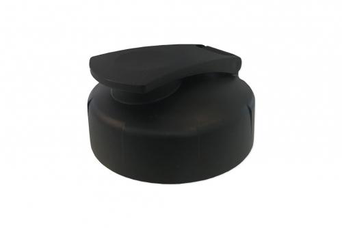 Vattenflaska Hit blå, med svart lock, 1-färgstryck
