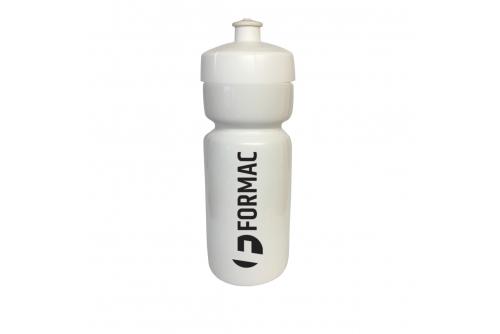 Vattenflaska Hit Soft Bio vit, med svart lock, 1-färgstryck
