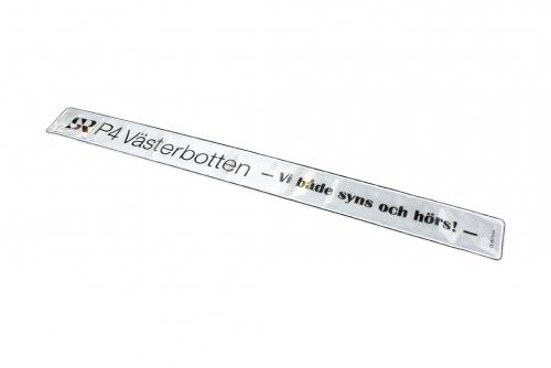 Reflexband vit med kundanpassat digitaltryck