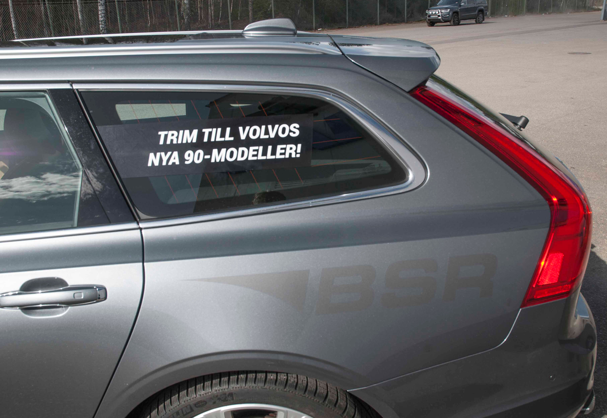 BSR Volvo V90 bildekor sidofönster bak