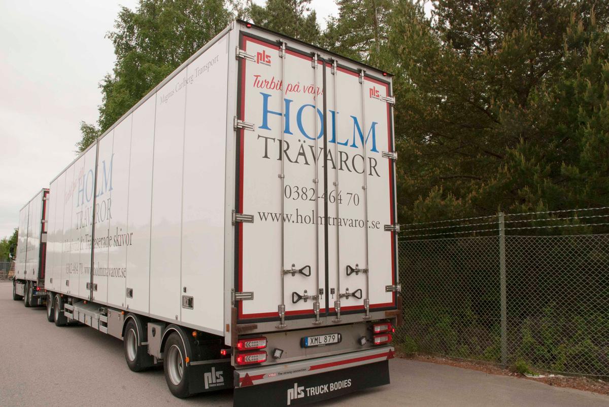 Holm Trävaror lastbilsdekor utan släp bak