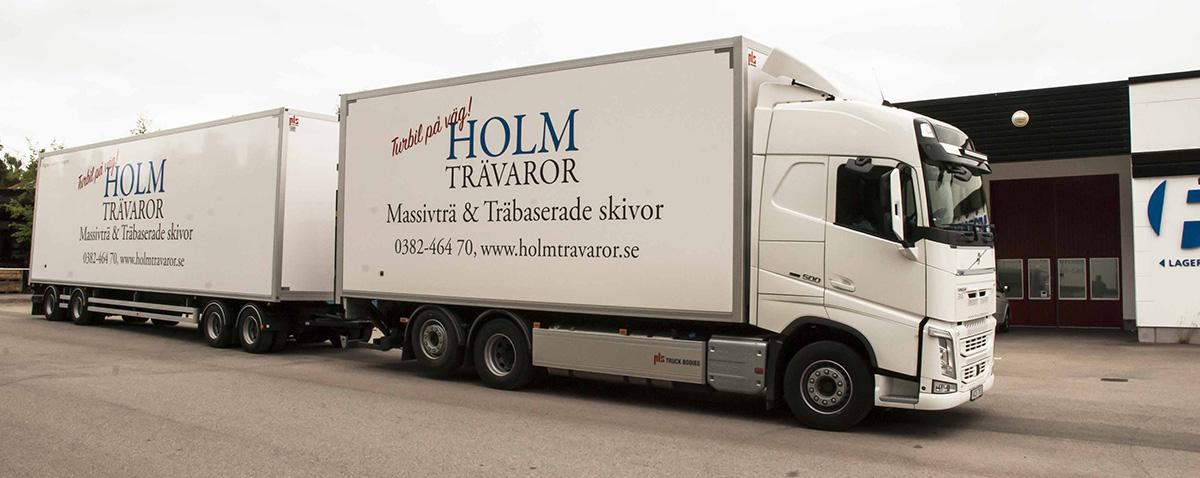 Holm Trävaror lastbilsdekor med släp
