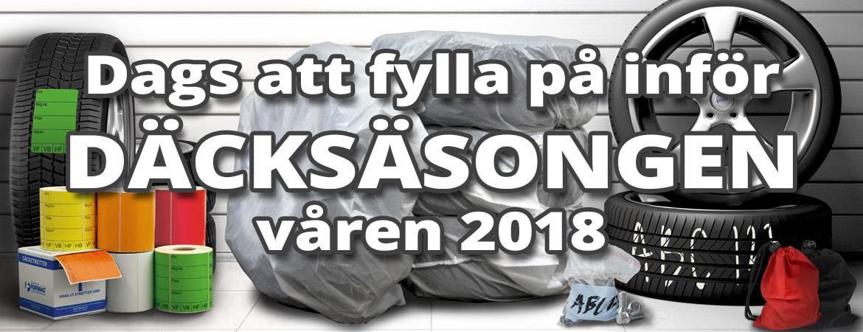 Dags för däcksäsongen våren 2018