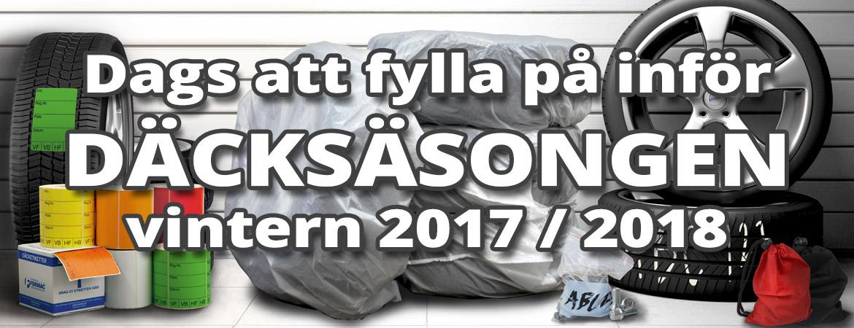 Dags för däcksäsongen vintern 2017/2018